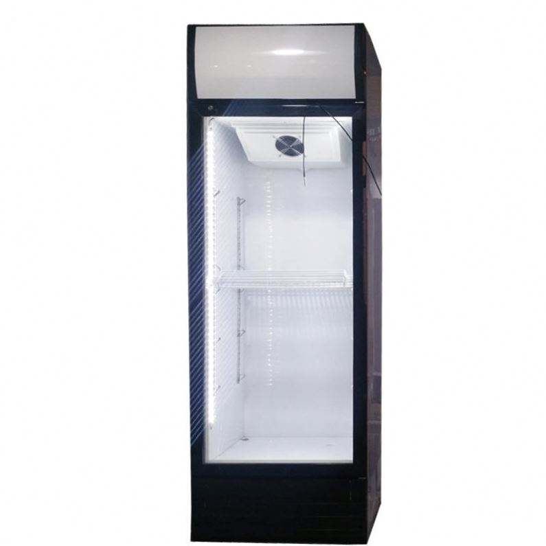 Commerical Supermarket led Glass door pepsi and drink display upright fridge