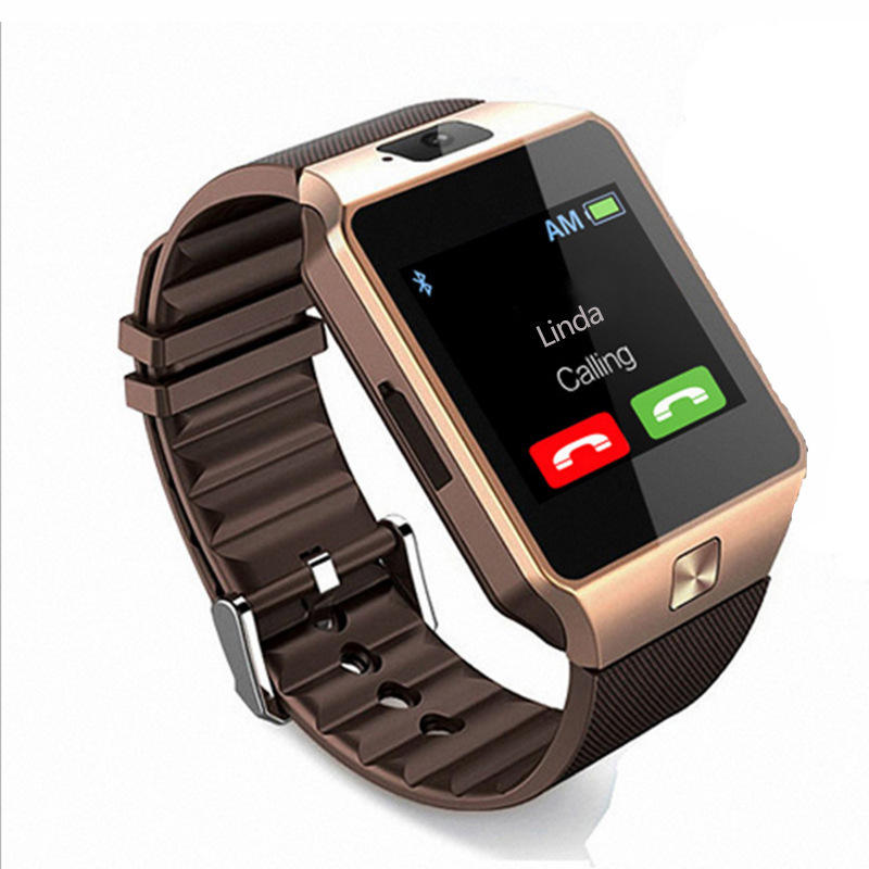 DZ09 Stainless steel 32GB memory smartwatch video call 380mAh support camera and video smart bracelet smart watch phone