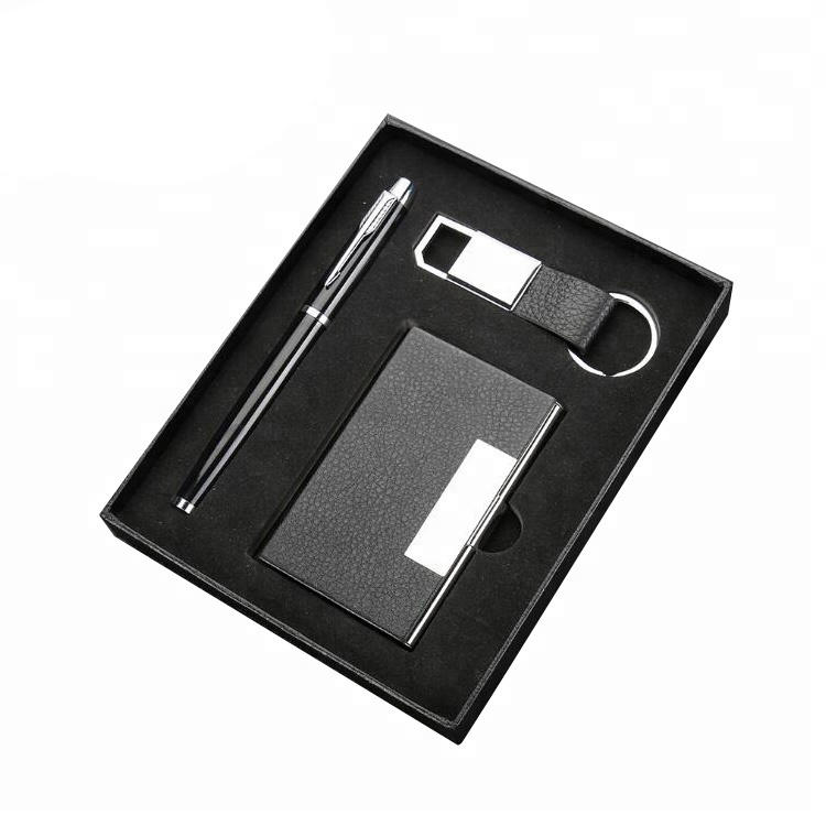 Stationery classical Christmas luxury promotional men business corporate wallet pen gift set