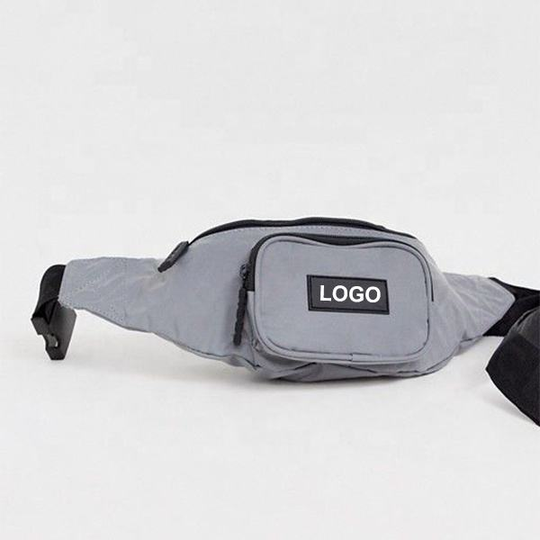2019 Wholesale customize reflective fancy pack outdoor sports waist bag
