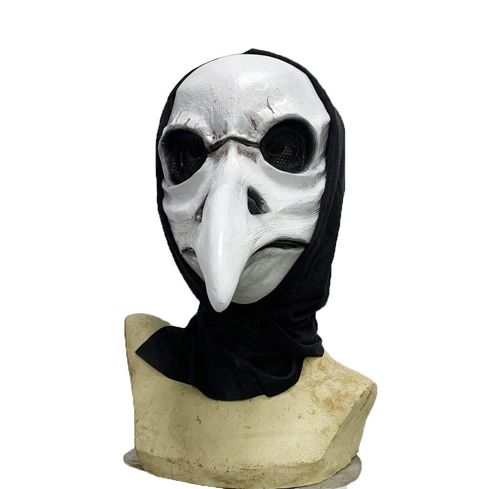 Bondage Head Hood Mask Open Eye Mouth nose Adult Halloween carnival Devil horn