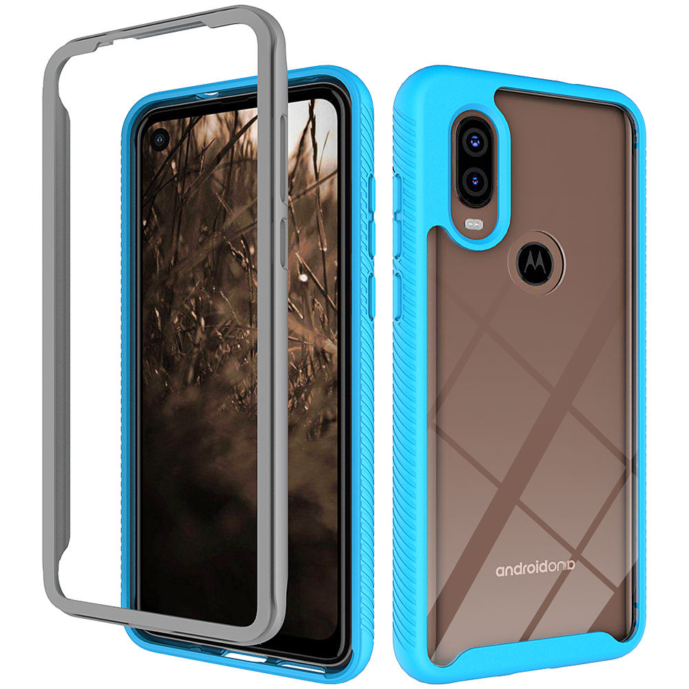 Rugged clear case for Motorola P40 defender phone cover