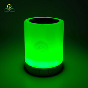 Islamic Mini Portable Gift Digit Bluetooth Remote Control 8GB Surah MP3 Free Download LED Light Touch Lamp Holy Al Quran Speaker