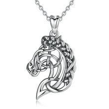 925 sterling silver jewelry celtic irish knot tibetan horse necklace pendant