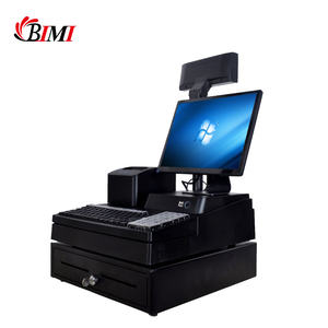 Bimi whole set all in one pos system with the host, VFD, keyboard, thermal receipt printer, barcode scanner and cash drawer