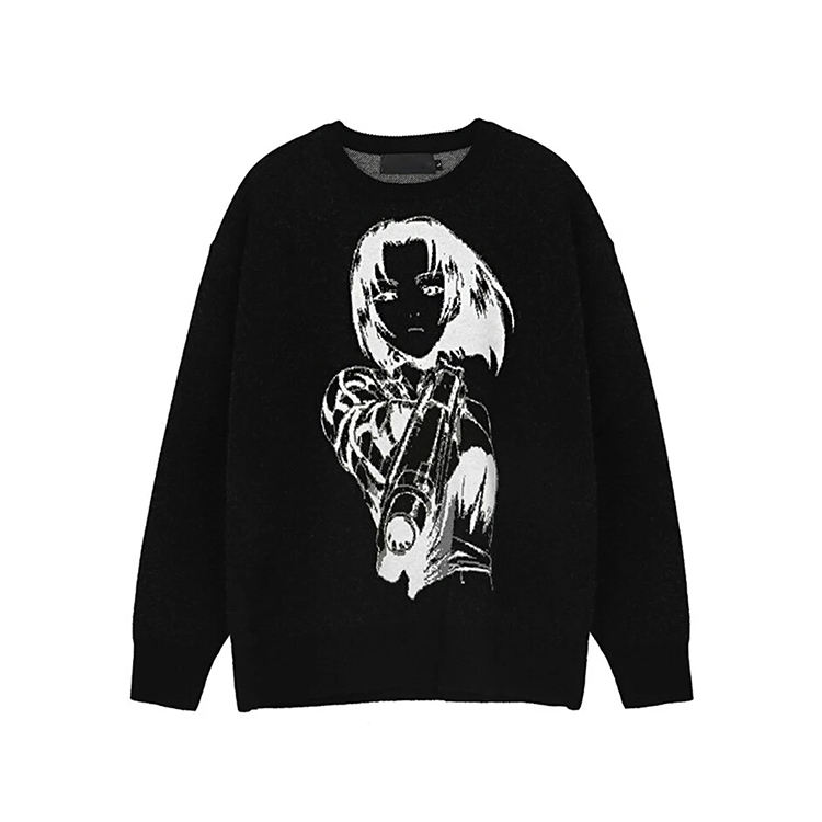 DiZNEW Custom wholesale jacquard mens sweater knit
