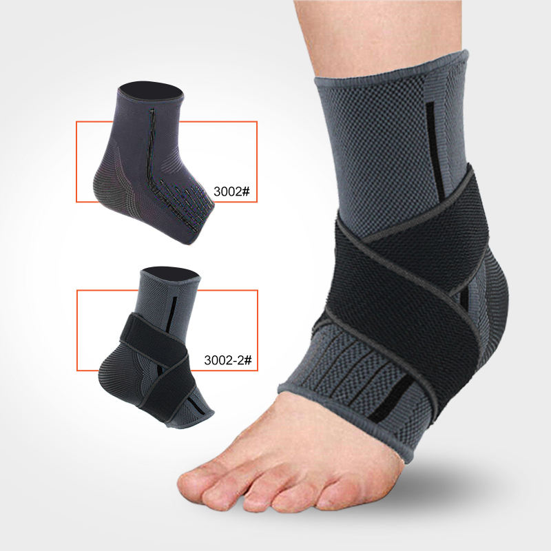 KS-3002-2#Low MOQ Customize logo Adjustable Ankle Support Ankle Bandage Ankle Compression Sleeve