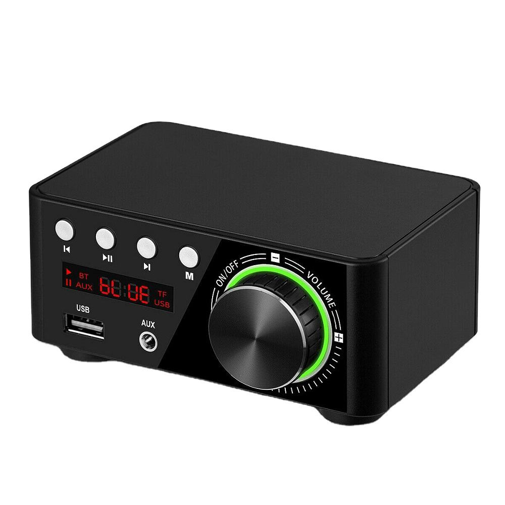 AIYIMA TPA3116 Mini Amplifier Suara 5.0 Bluetooth Amplifier Stereo Hi Fi Audio Amp 50W + 50W USB TF MP3 sistem Home Theater