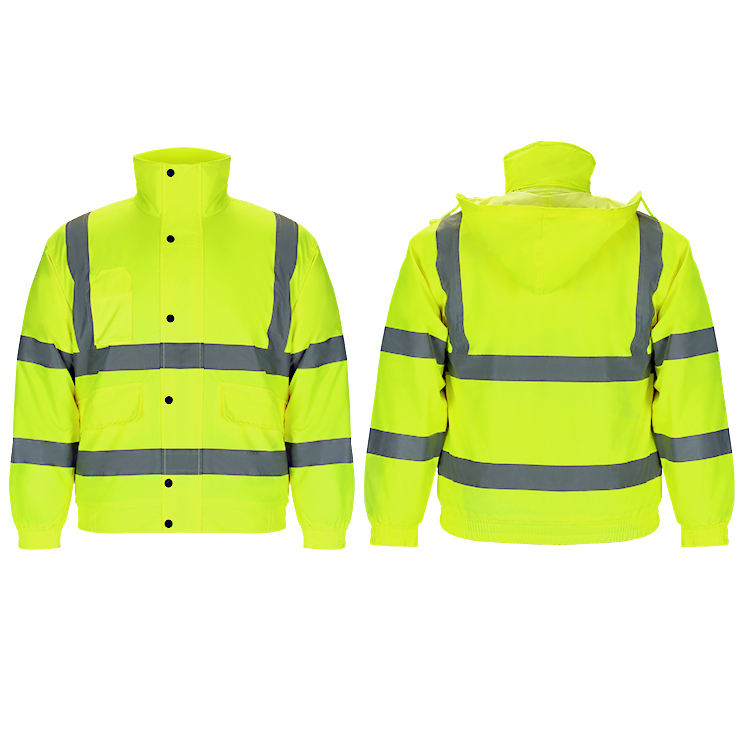 Custom New Fashion High Visibility Mens Waterproof Safety Jacket Reflective Workwear