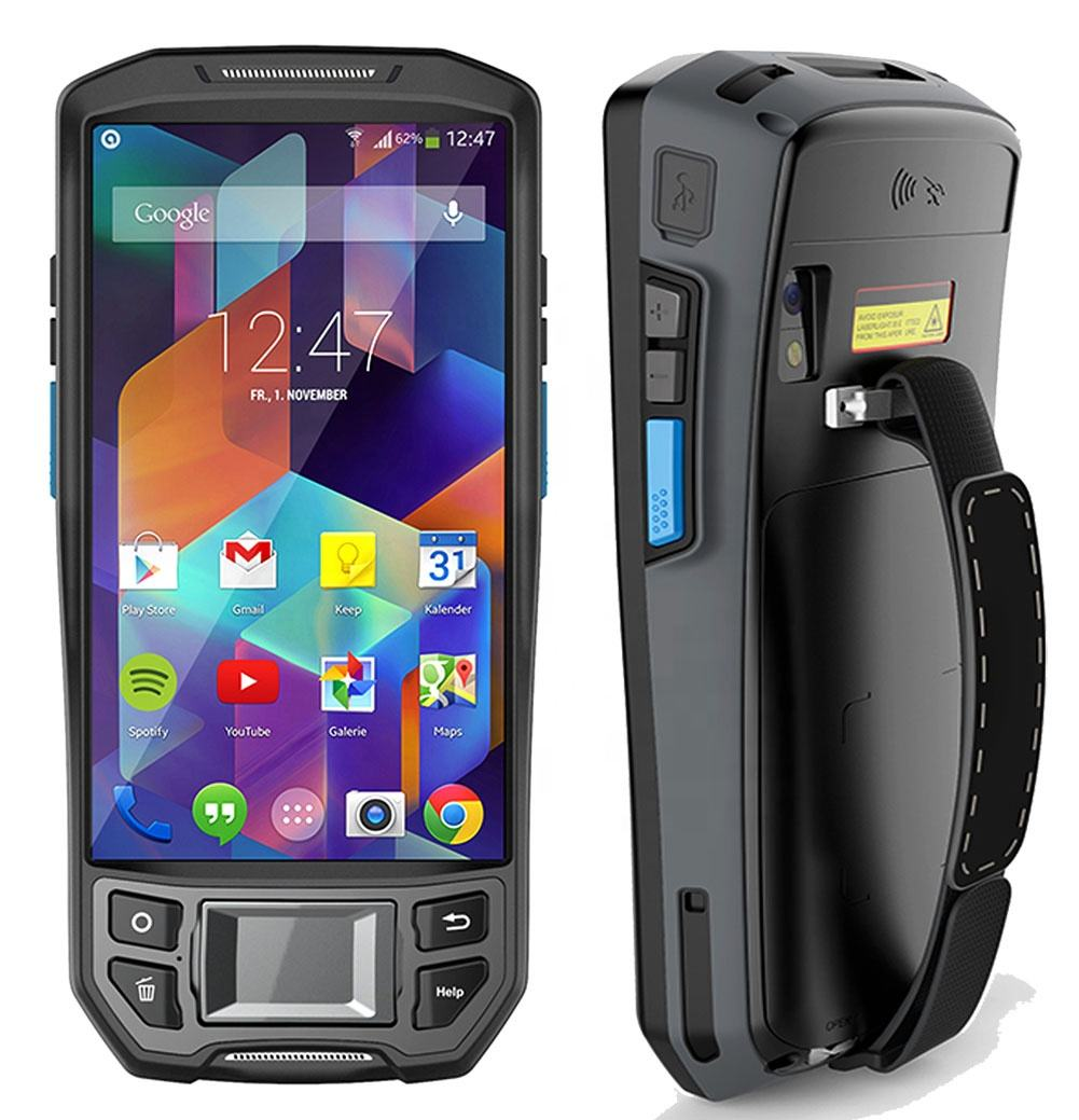 Cheapest Factory HIDON 5 inch android pda+ UHF RFID+ 2D barcode Scanner+ Fingerprint scanner+ POS printer PDA