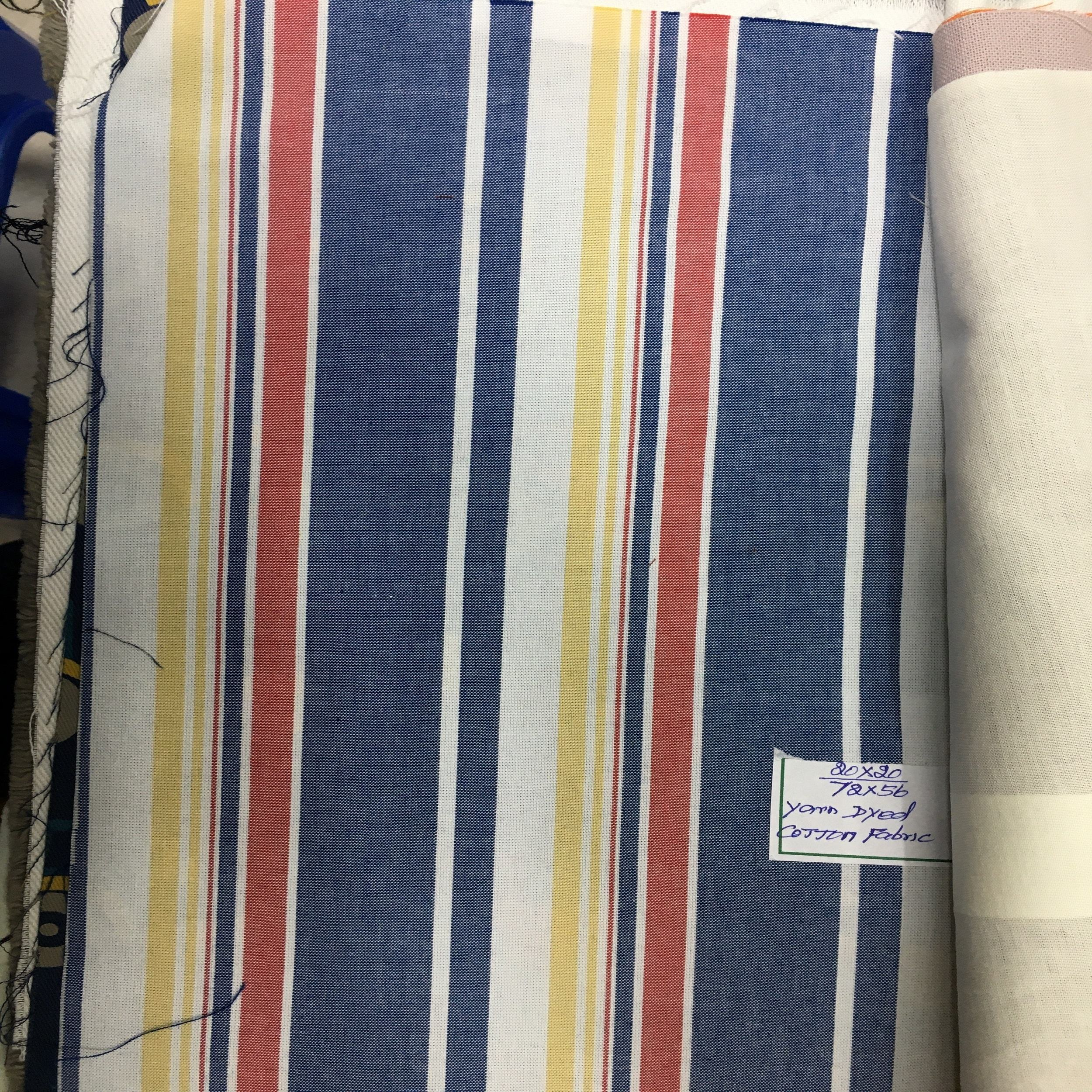 YARN DYED COTTON FABRIC MADE IN INDIA, BY INDIAN MANUFACTURER, MANUFACTURER FROM INDIA