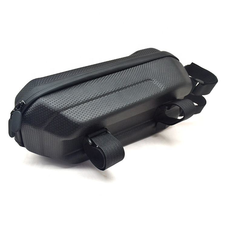 RST Small MOQ Jacquard cloth Black Scooter Storage Handlebar Bag Organizer Eva Case Front Multi Carrier for Bicycle and Scooter