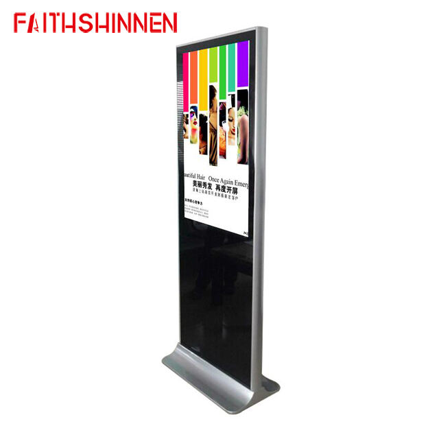 43 inch floor stand Android LCD digital signage kiosk management software include