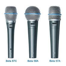 Top quality Beta58 Beta 58a Supercardioid Dynamic Vocal Wired Microphone beta 58 for Karaoke Stage Performance Studio Recording