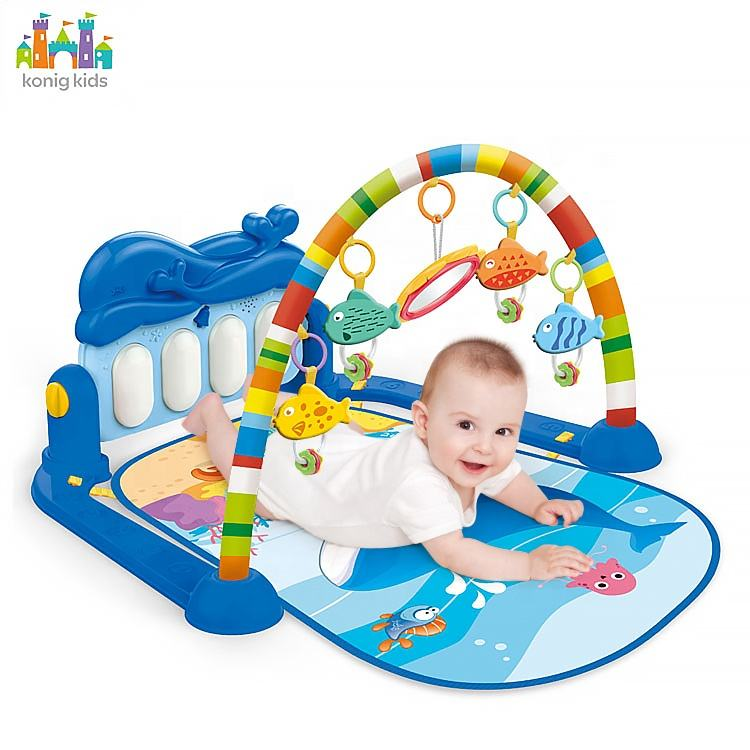 Amazon Hot Sale Musical Piano Keyboard Play Mat Baby Activity Playmat Gym Baby Play Mat