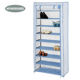 Hot Selling 9 Tiers Shoe Rack Easy Assembly Non-woven Fabric Shoe Cabinet Storage Organizer