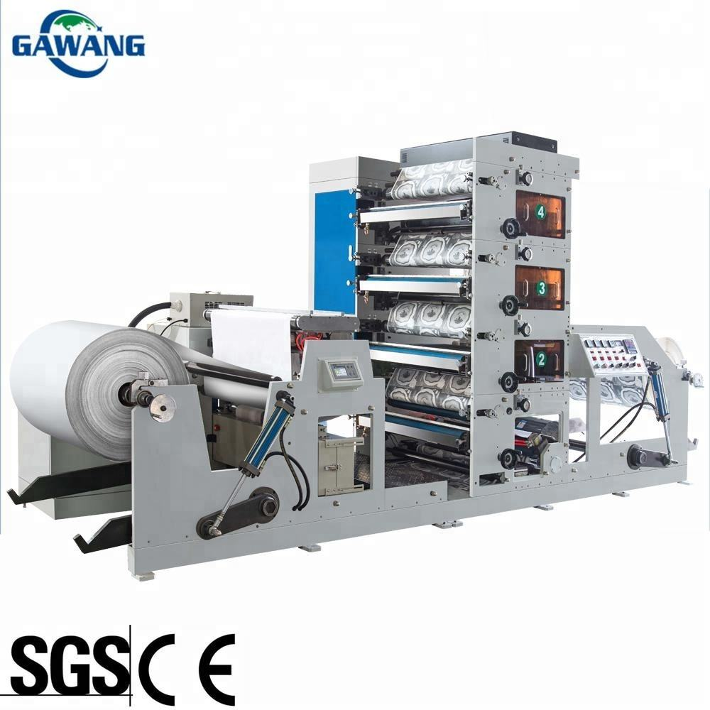Low Rate of Fault Label Roll to Roll Flexo Printing Machine Paper Bag Paper Cup Printing Die Cutting Machine