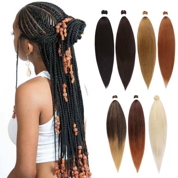 "Julianna 100% <span class=keywords><strong>kanekalon</strong></span> synthetische 52 ""prestretched braid extensions auftrag 3 pack vor gestreckt <span class=keywords><strong>kanekalon</strong></span> flechten haar"