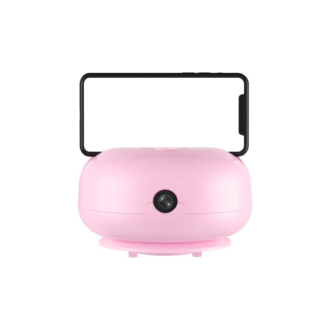 NEW AI smart PTZ phone tracking holder for live streaming with battery GEN.2 follower broadcast vlog pink color