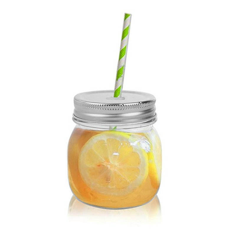 Avertan mini custom 200ml 300ml 600ml 750ml 32oz wide mouth ball mason jar glass with lid & straw for food