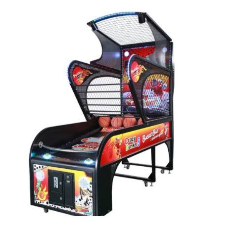 High quality indoor amusement coin operated luxury basketball shooting arcade game machine for shopping malls for sale