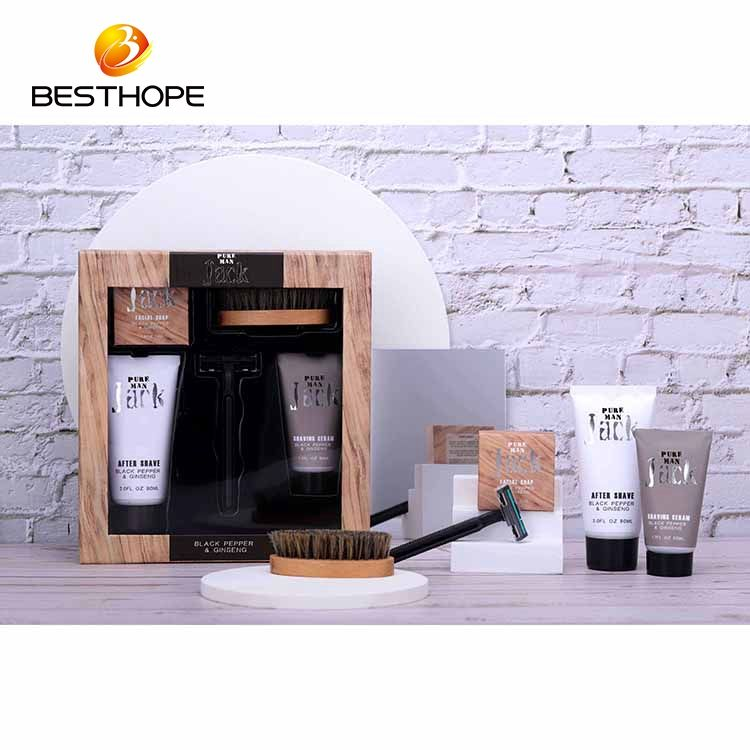 Men's Deeply Clean Face Skin Care Facial Soap Shaving Cream Personal Care Gift Set With Shaver