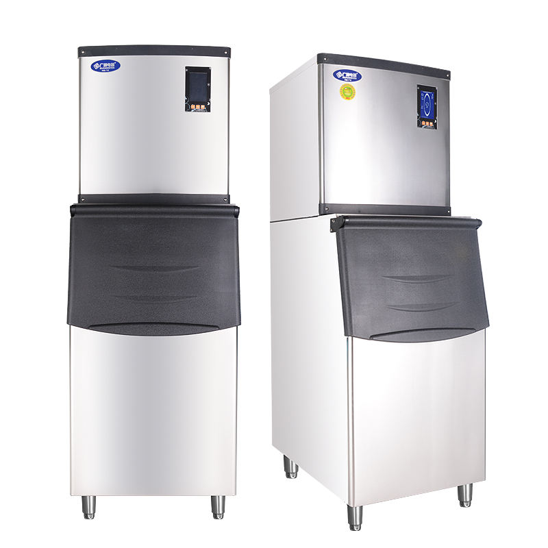 Stainless Steel Luxury SquareType Tube Ice Machine Monitoring Ice Making Machine ice maker