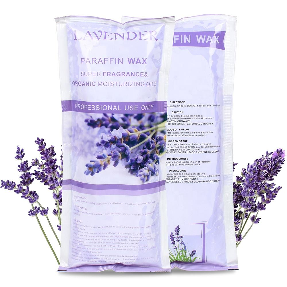 1LB Lavender spa Paraffin bath Wax for sale Beauty wax for skin care Fully Refined spa Paraffin bath Wax For Hands and Feet