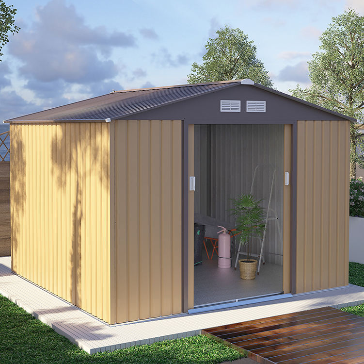 popular waterproof 7*4FT outdoor garden metal shed house storage
