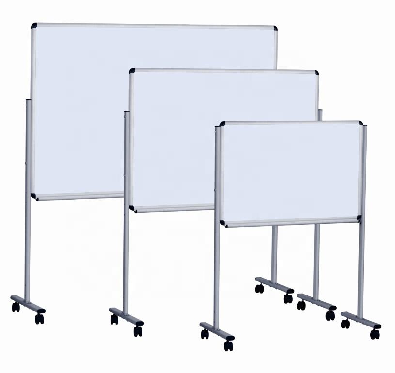 Office school movable free standing magnetic whiteboard easel white board stand with wheels