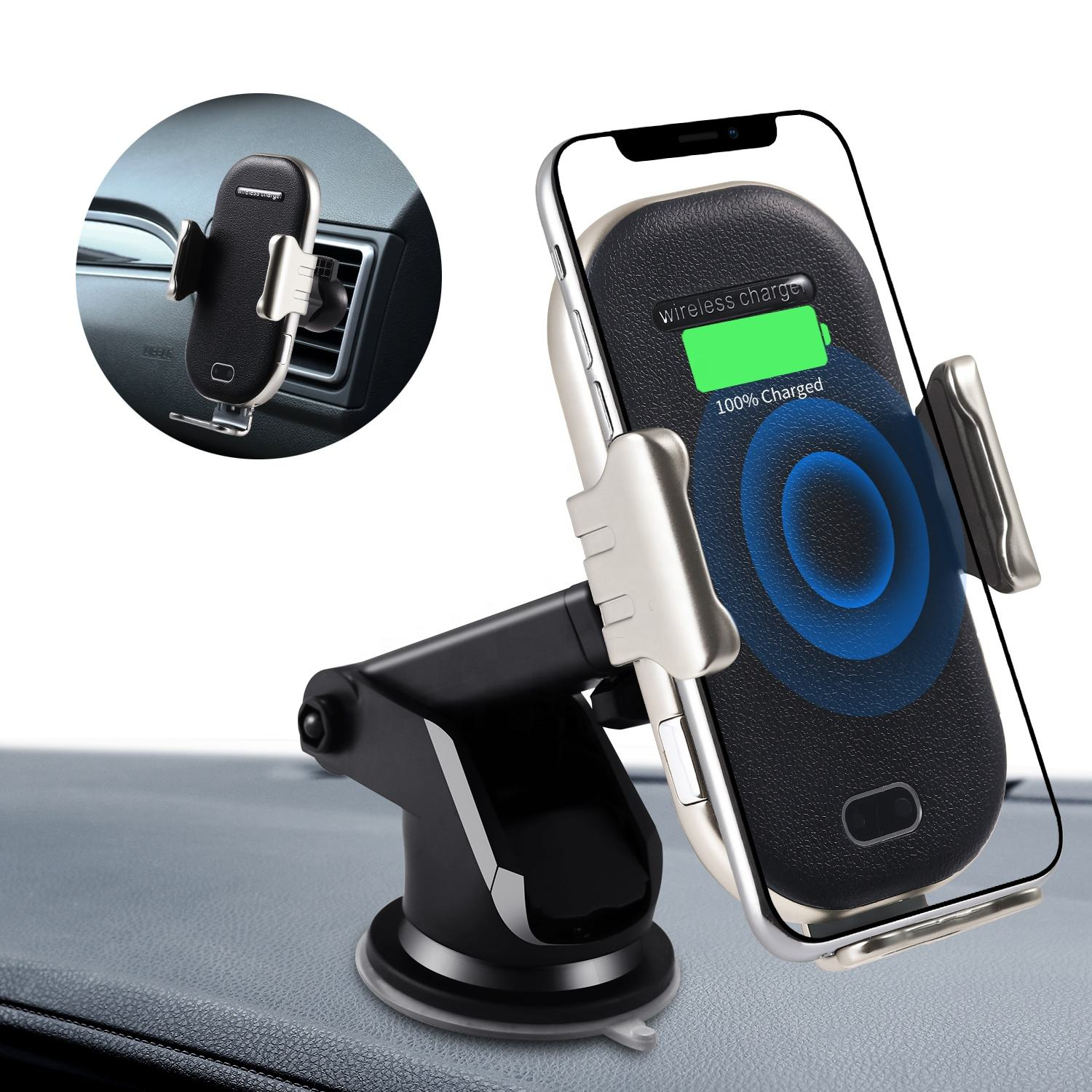10W Fast Charging Car Phone Holder Car Wireless Charger Mobile Holder