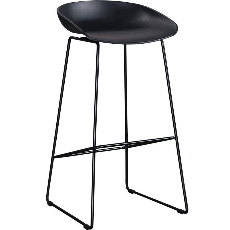 High bar stool supplier Durable steel high chair lab stool plastic seat industrial chair