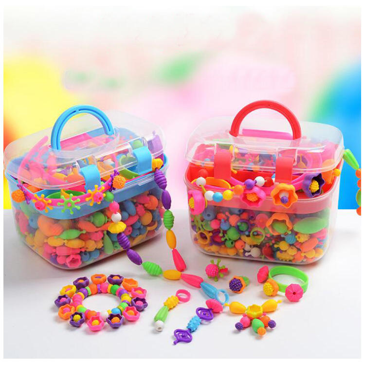 Pop Beads Creativity DIY Jewelry Making Kit for Kids Toddlers Beads Making Idea Arts and Crafts Gifts