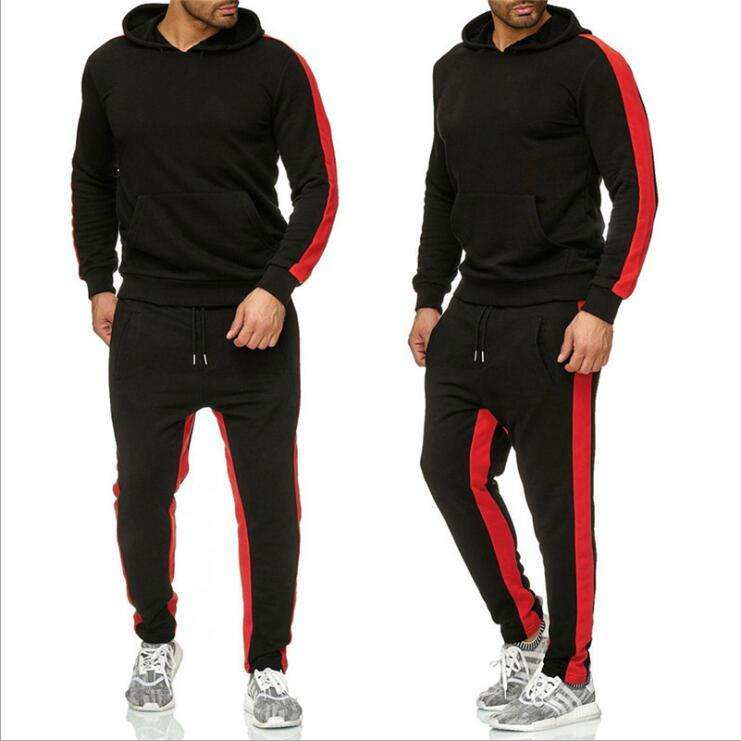 New men's casual sports suit men's European and American trend large Hooded Coat pants two-piece set tracksuit jogging suit