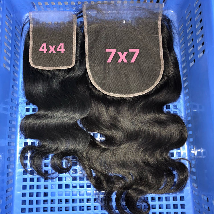 HD Lace Closure Virgin Cuticle Aligned Hair, Pre Plucked HD Lace Frontal with baby hair, HD Swiss 4x4 5x5 6x6 7x7 Lace closure