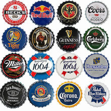 Beer Bottle Sign Vintage Plaque Metal Tin Signs Craft Cafe Bar Pub Signboard Wall Decor Retro Nostalgia Round Plates Poster 35CM