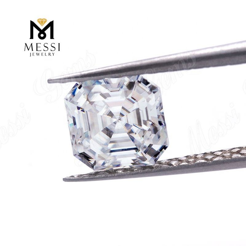 Messi Jewelry wholesale Asscher cut 6.5x6.5mm DEF VVS loose moissanite stone