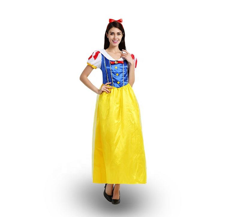 2020 Women Adult Halloween Party Cosplay Stage Show Cosplay Snow White Princess Costume