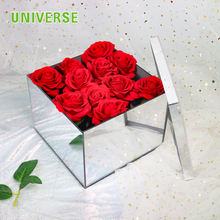 UNIVERSE Preserved  Custom rose golden/ silver acrylic box with mirror surface