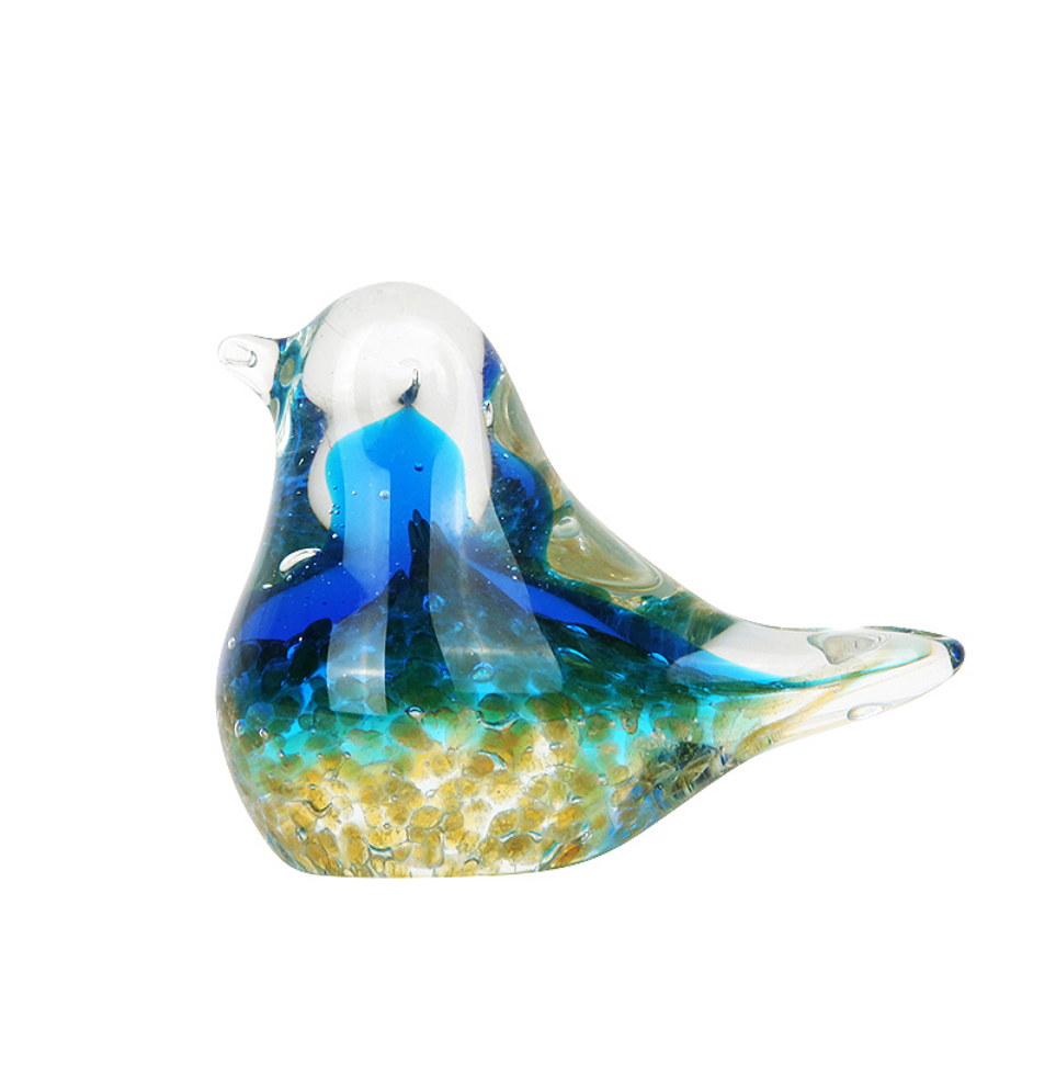 Small Decorative Gifts Lovely Glass Animal Ornaments Decoracion Glass Bird