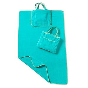 beach towel with bag custom printing cotton velour beach towel bag/pouch