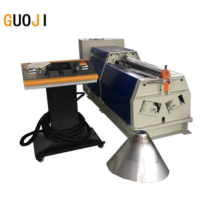 guojimachine hydraulic stainless steelsheet metal cone rolling conical drum rolling machine in china
