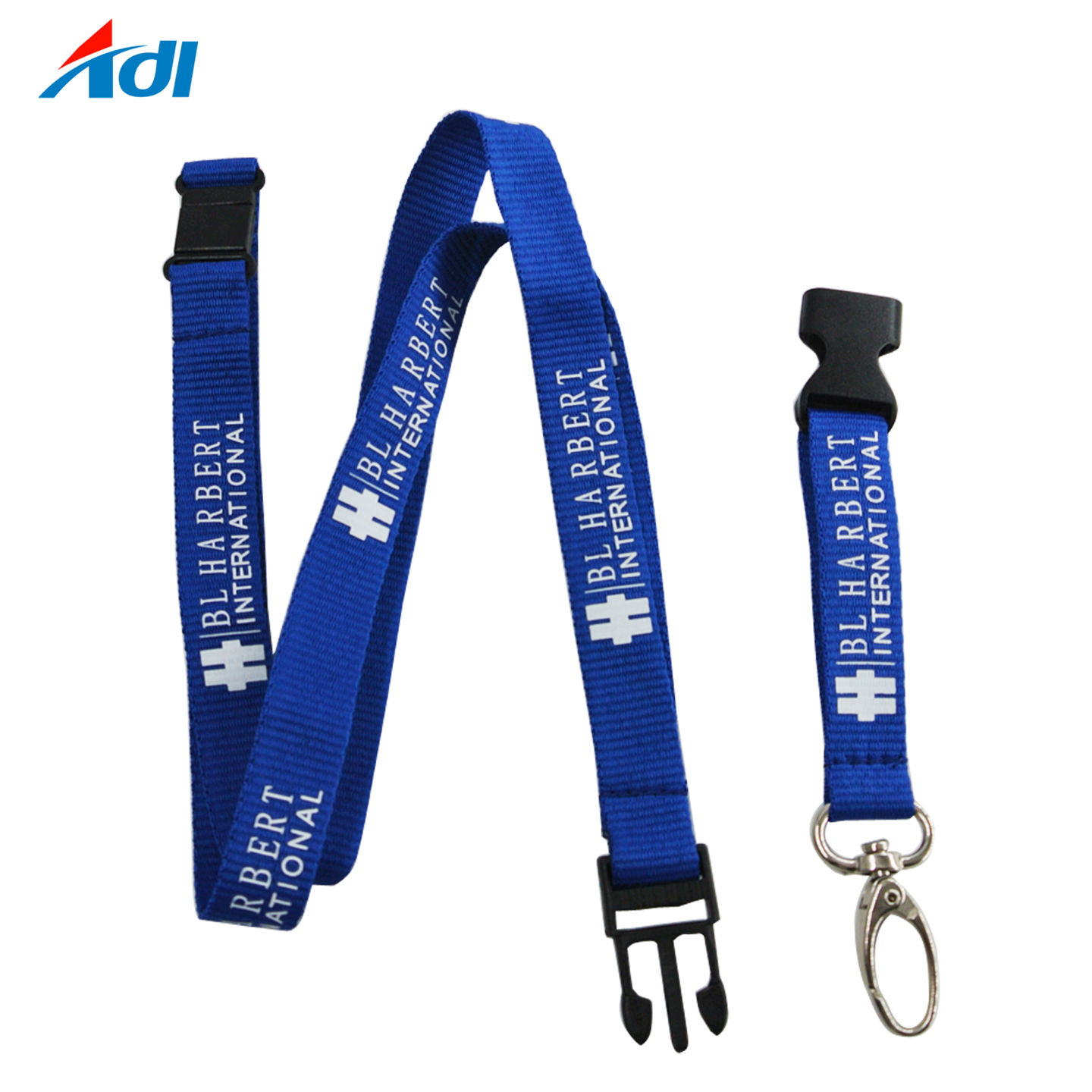 Cheap Custom Safety Breakaway Silkscreen Lanyard with Name Tag
