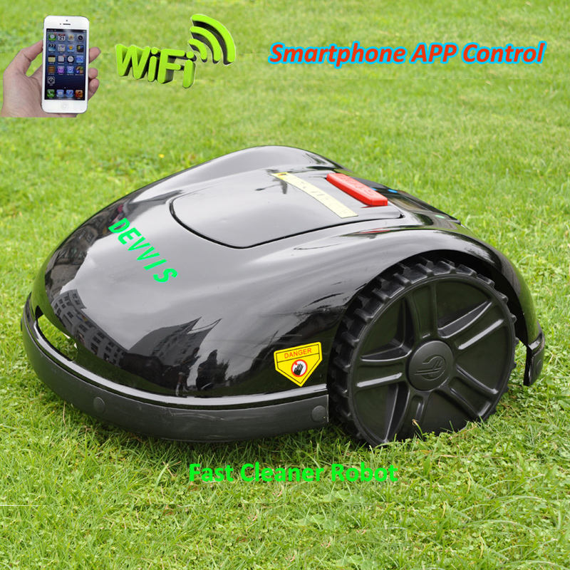 Robot Mower DEVVIS 2020 5th Generation Smartphone WIFI App Control Lawn E1600T Updated with NEWEST Gyroscope Navigation
