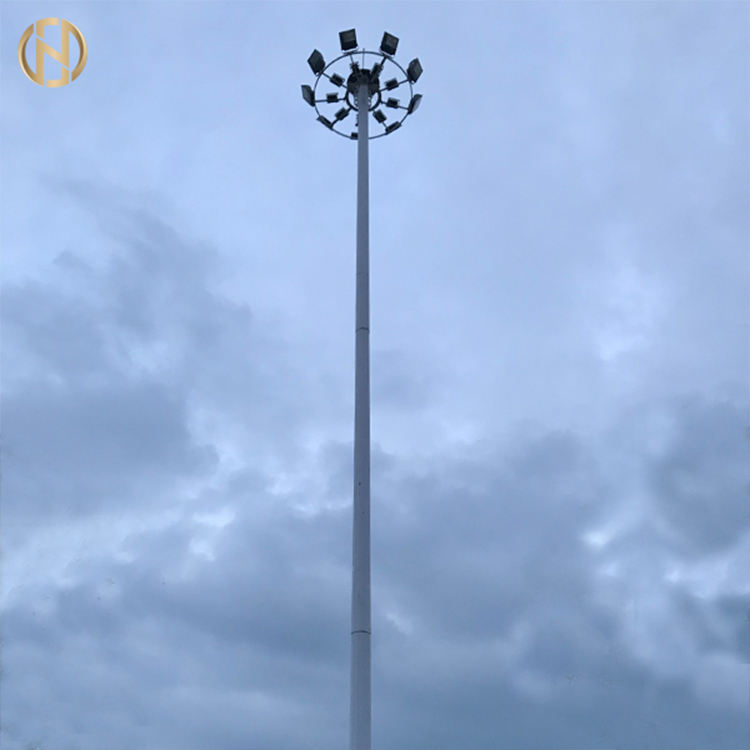 15m 20m 30m galvanized steel high mast flood lighting pole