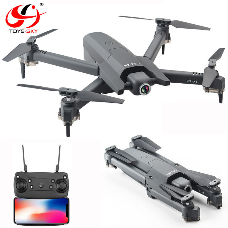 Newest CSJ-X4 Wifi FPV Foldable Small Radio Control toys Drones With professional Optical flow 4K HD Camera for selfie