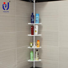 Bathroom wall shower corner racks and shelves