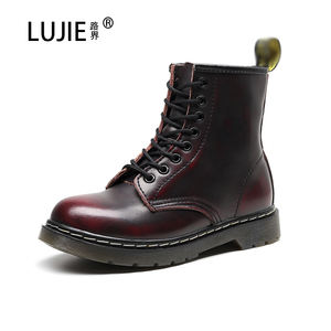 Dr Custom winter marten Classic flat sole 1460 8 eyelet with logo leather fashion sale ladies brush color work ankle boots