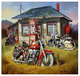 CHENISTORY DZ992572 Outdoor motorcycle diy oil painting by Numbers for adults 40x50cm oil draw by numbers