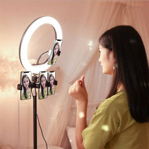 Popular Dimmable Round Base 10 Inch Make Up Circle Led Ring Light